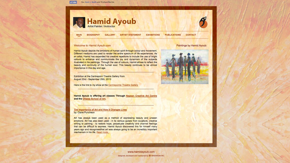 Hamid Ayoub Website Preview Image